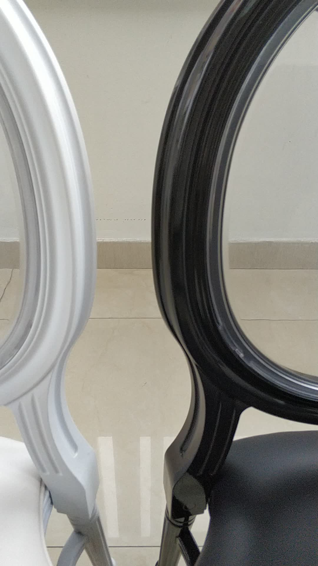 hot sale resin louis chair with clear back for wedding/banquet