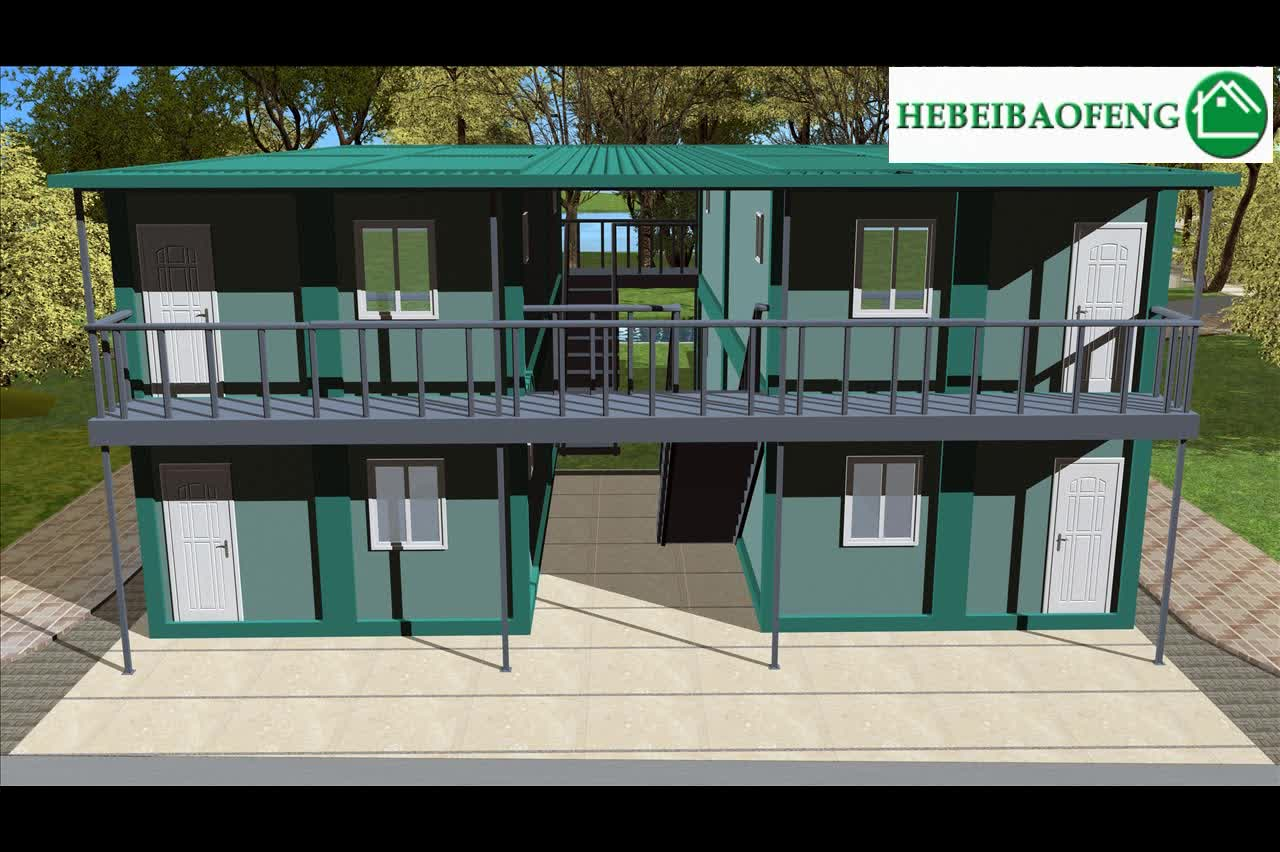 Steel Material house and Hotel Use container homes