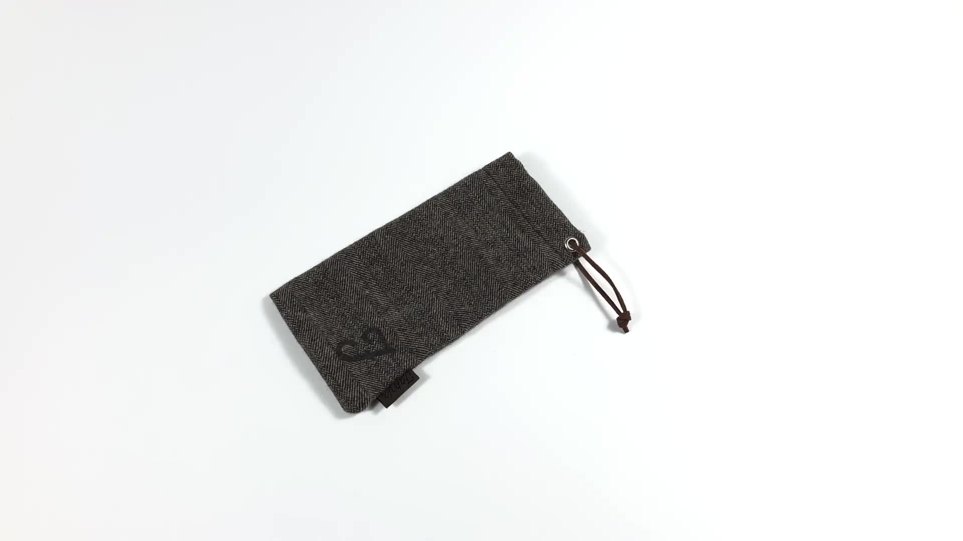 Custom Logo Cotton Sunglasses Pouch Bag Case Flap Soft Leather Pu Microfiber Sunglasses Cloth Pouch For Sunglasses Pouch