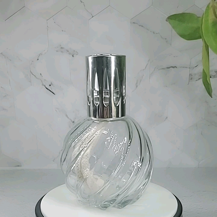Transparent glass ignition catalytic aroma lamp, compatible with Lampe Berge essential oil