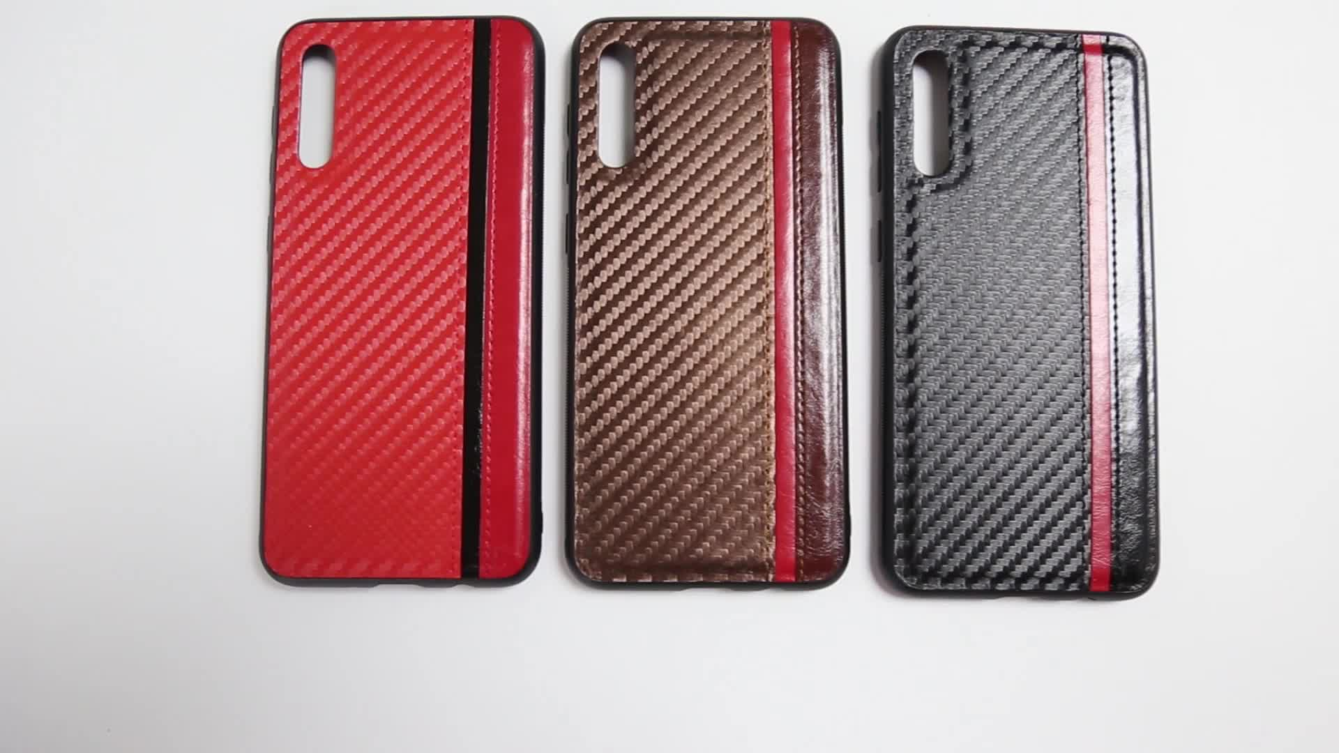 China Product Carbon Fibre Pattern Slight PU Digital Phone Case for Honor 9X 20 Pro Lite 8S 20i 8A View 10 Magic 2 3D Play Max