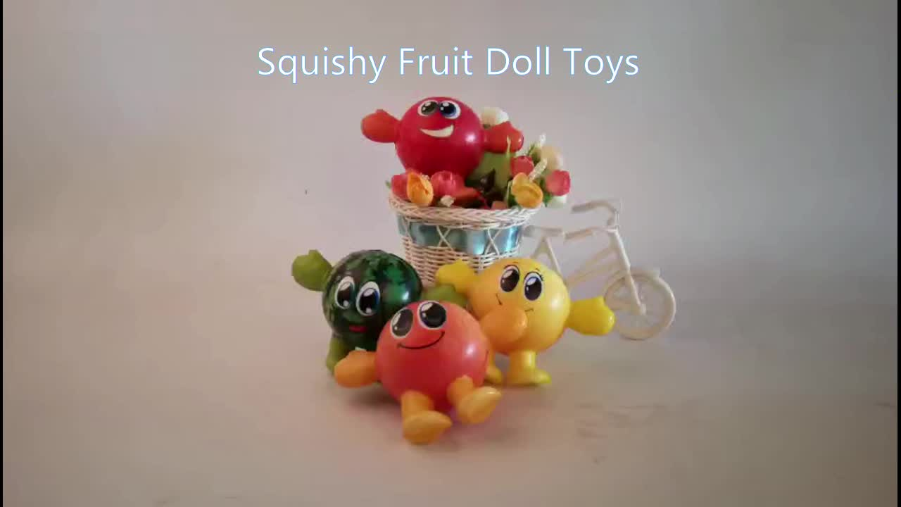 hot selling pu squishy new slow rising fruit doll toys full color printing toys artificial cute squishy makeover toys
