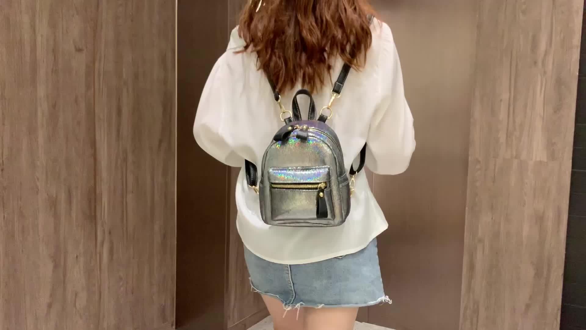 Fashion leather shoulder bag womens back pack mini backpack purse