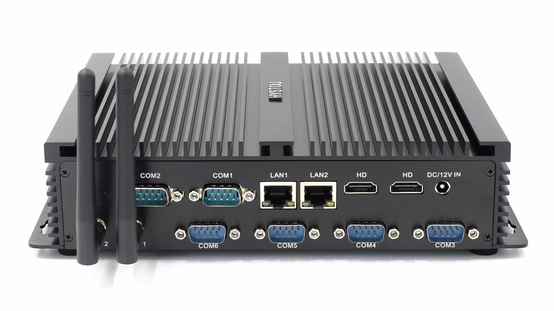 Intel Core i5 4300u Ordinateur Industriel Hôte i5 Broadwell PC Sans Ventilateur Mini PC avec ITM Carte Mère X86 Système Barebone
