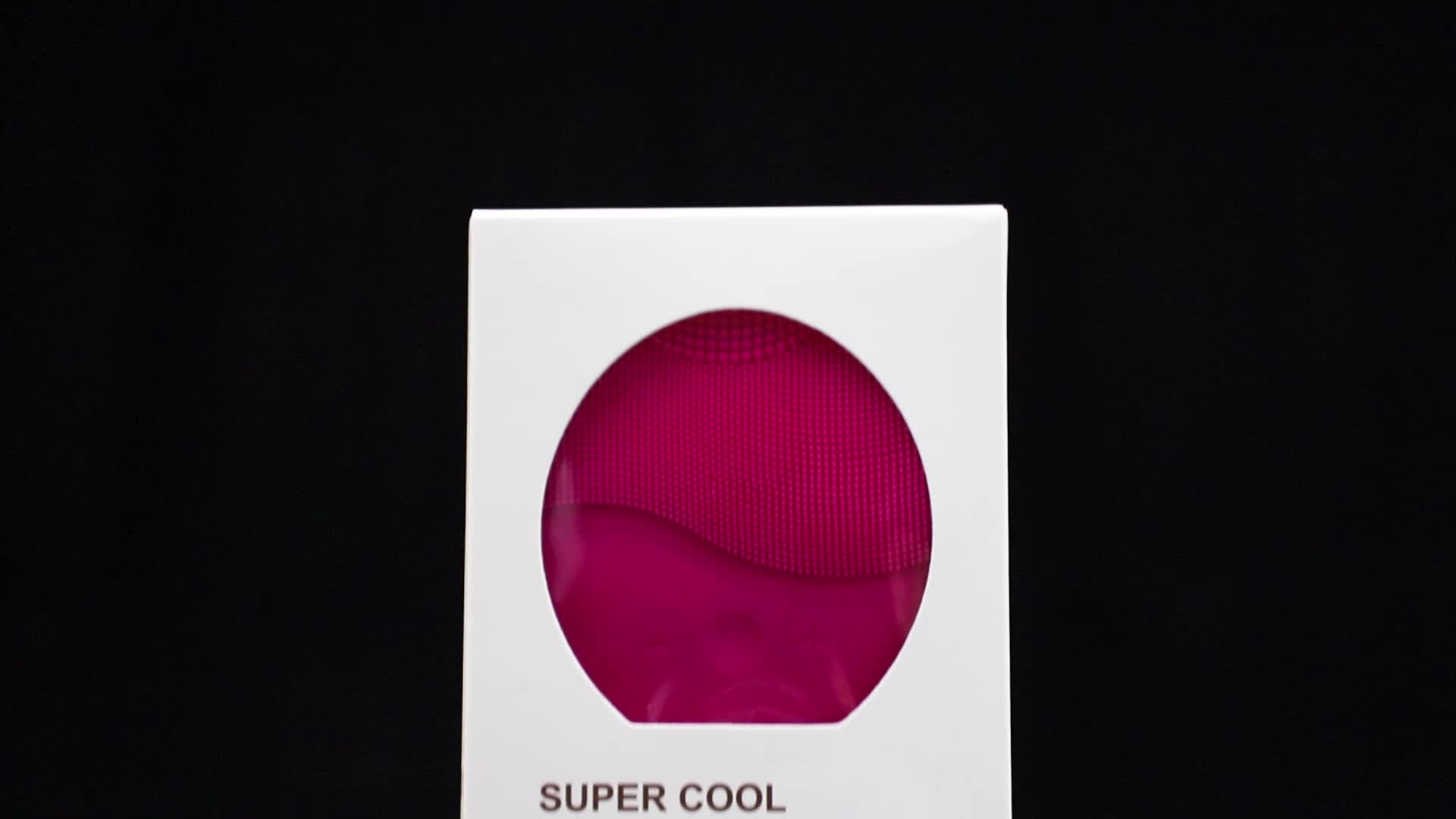 防水ポータブル超音波電気フェイシャルクリーナー洗顔ブラシソニックマッサージスキンケアスパ美容洗浄装置