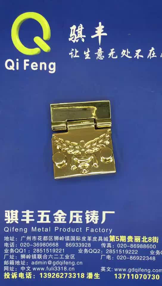 QIFENG Customized high-end fashion square handbag push lock