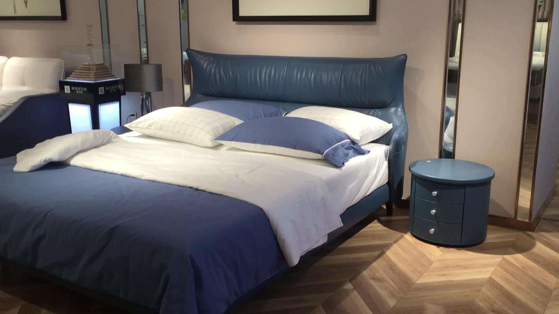Yeni çok fonksiyonlu dubai yatak mobilya lüks deri tik mdf ahşap çift kişilik yatak lüks ahşap çift kişilik yatak modern tasarımlar