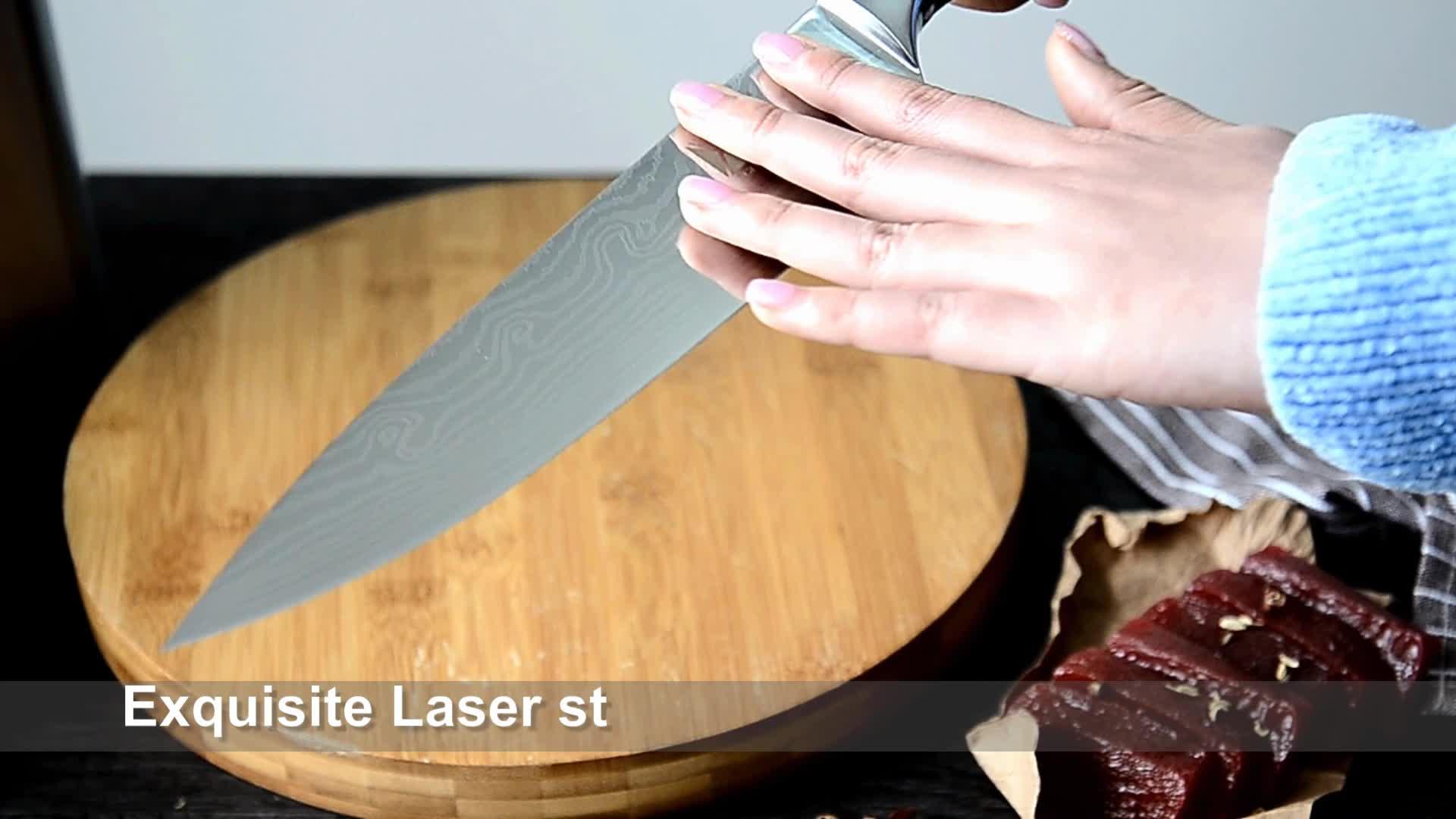 XYj juego desde 1986 alta calidad 7 pulgadas cuchillo santoku 7Cr17mov de acero inoxidable japonés cuchillo de cocina