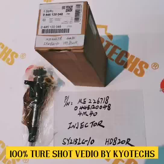 ME226718 0445120048 4M40DIESEL FUEL INJECTOR FOR SY215LC-10 HD820R