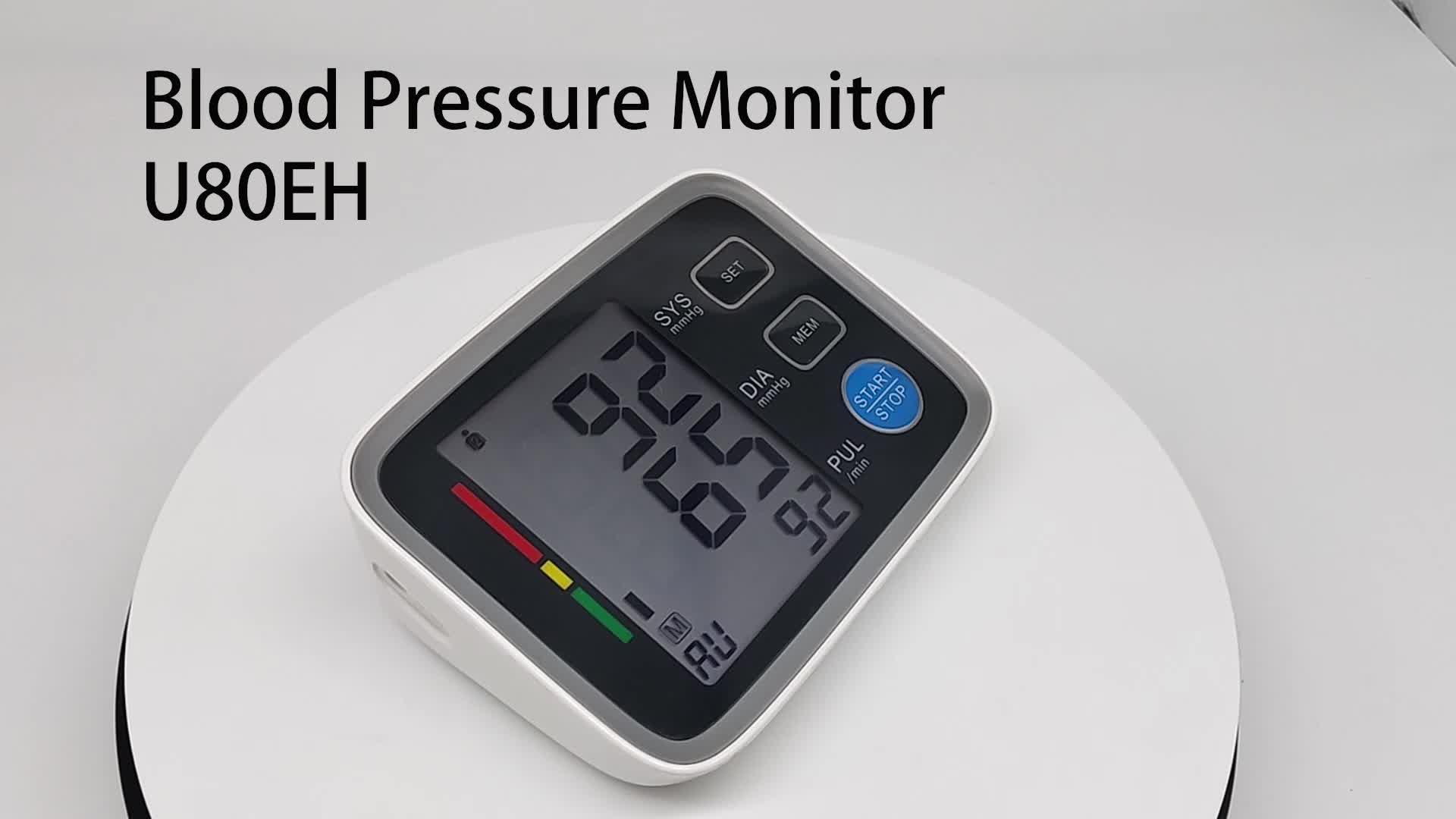 Smart Backlight Charging Wholesale Arm Type Blood Testing Equipments Pressure Monitors Blood Pressure  Monitor