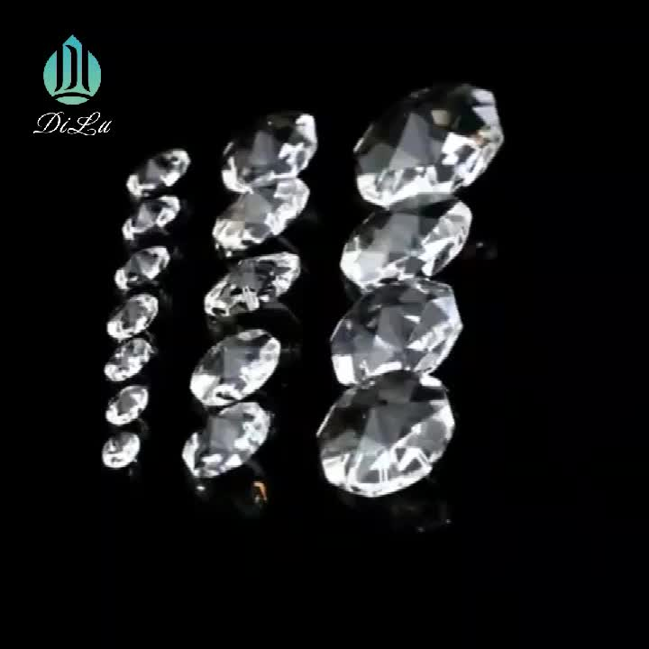 Dl Modern Clear Crystal Lamp Accessory Crystal Glass Beads For Chandelier Lighting  / Chandelier Hanging Accessories