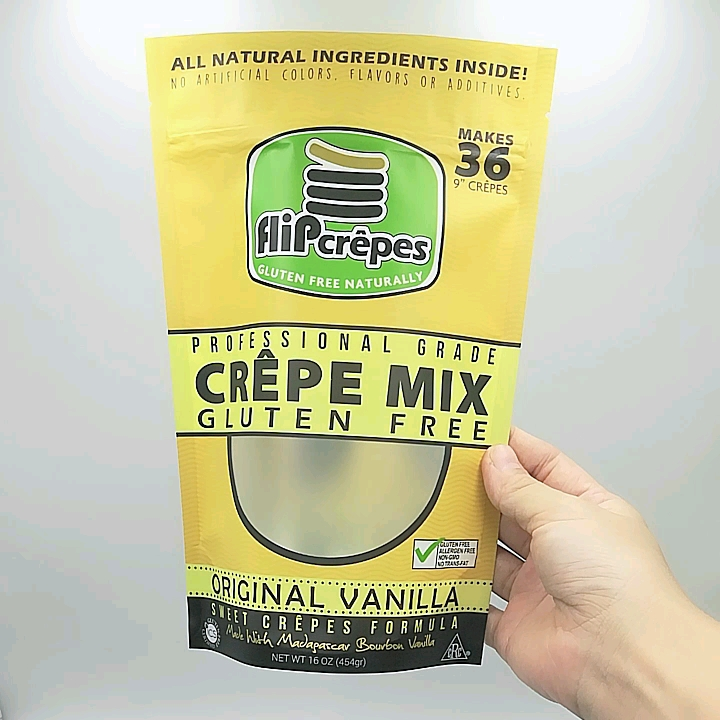 One Side Transparent Frosted Crepes Food Packaging Ziplock Bag