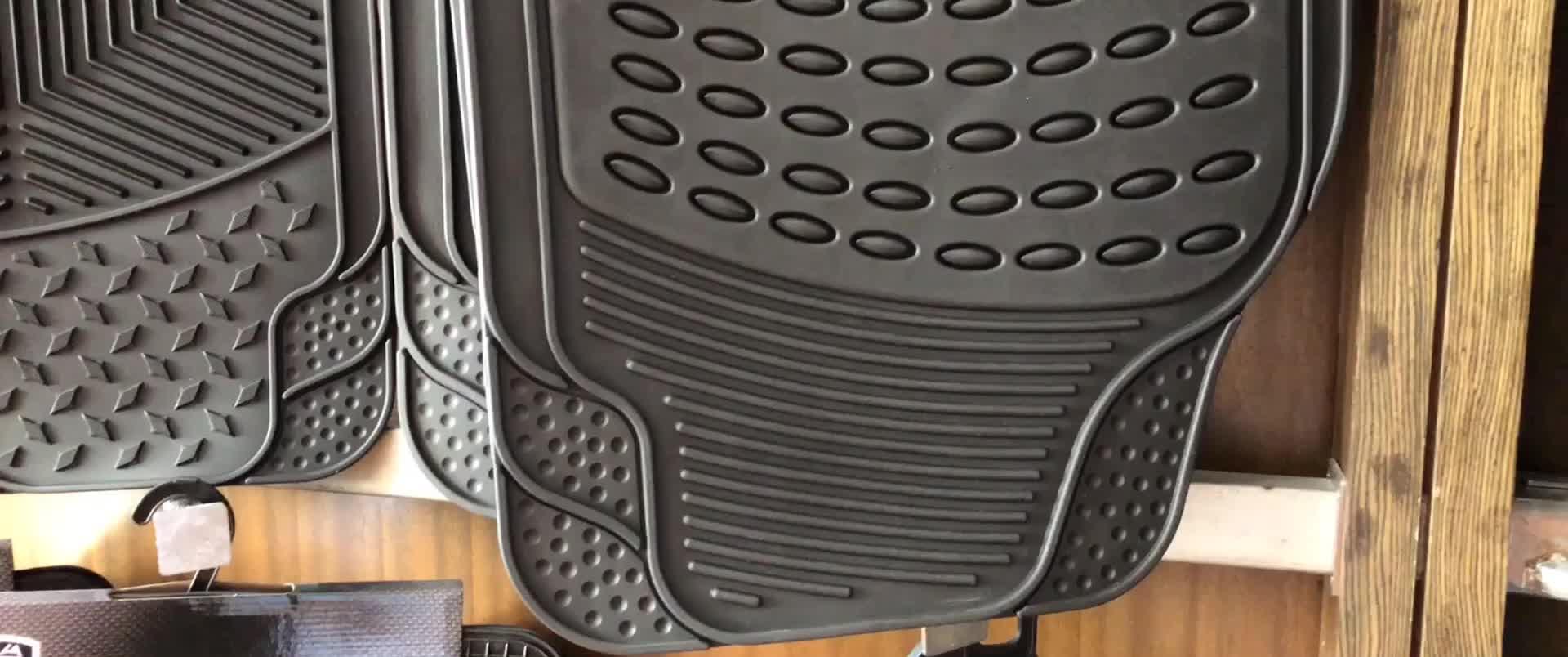 3PCS Car Truck Custom PVC Floor Mats Carpet Front & Rear car mats general floor mat for car