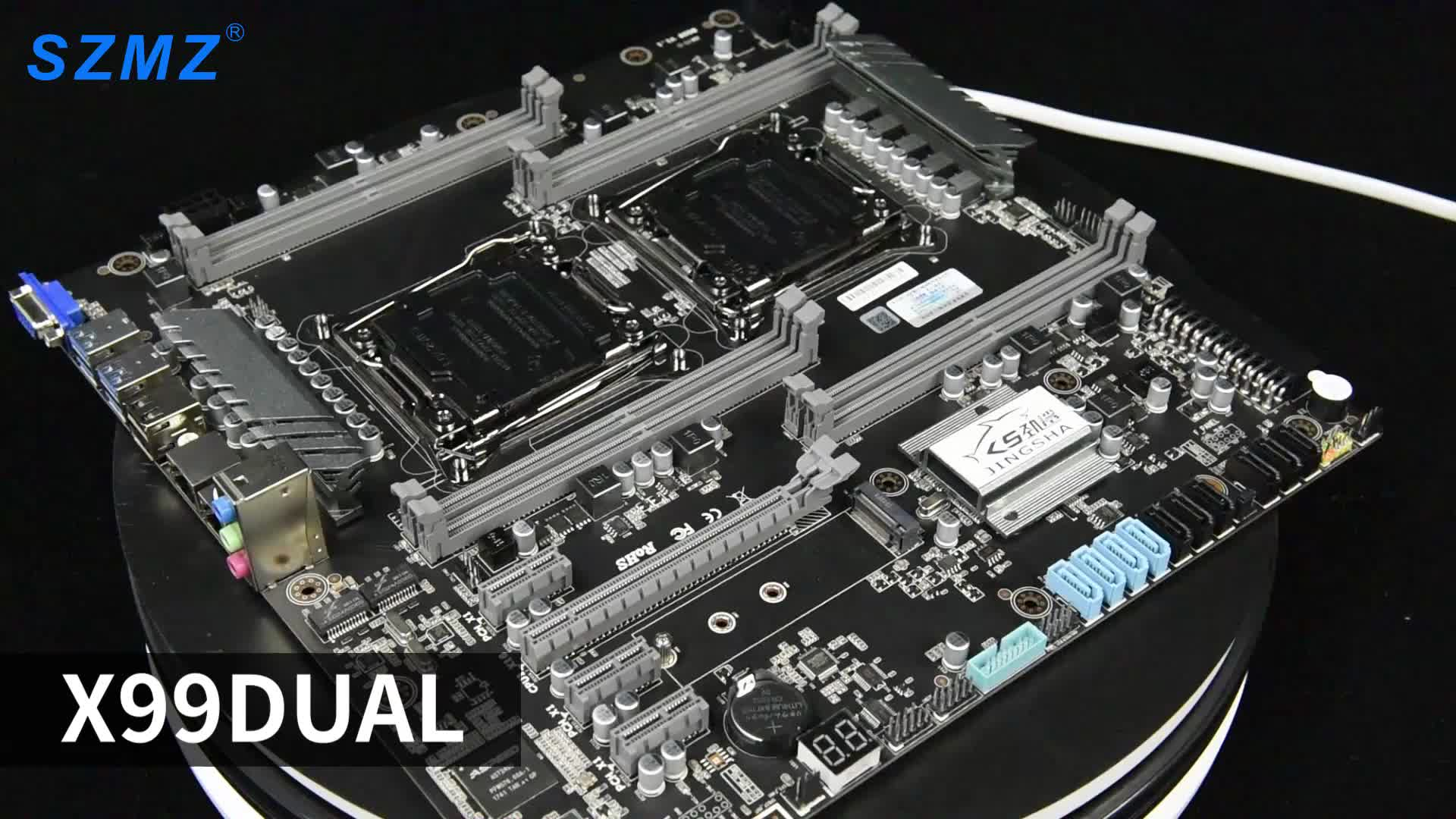 World premiere  lga2011 v3 v4 socket x99 dual x99 chipset 128GB motherboard