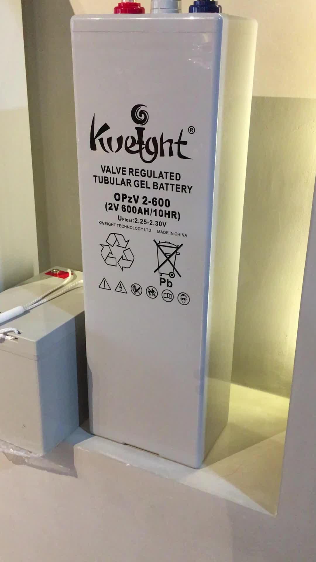 $Hot sale tubular gel battery 2v 12v 24v 48v 600ah OPzV storage+batteries Canton fari