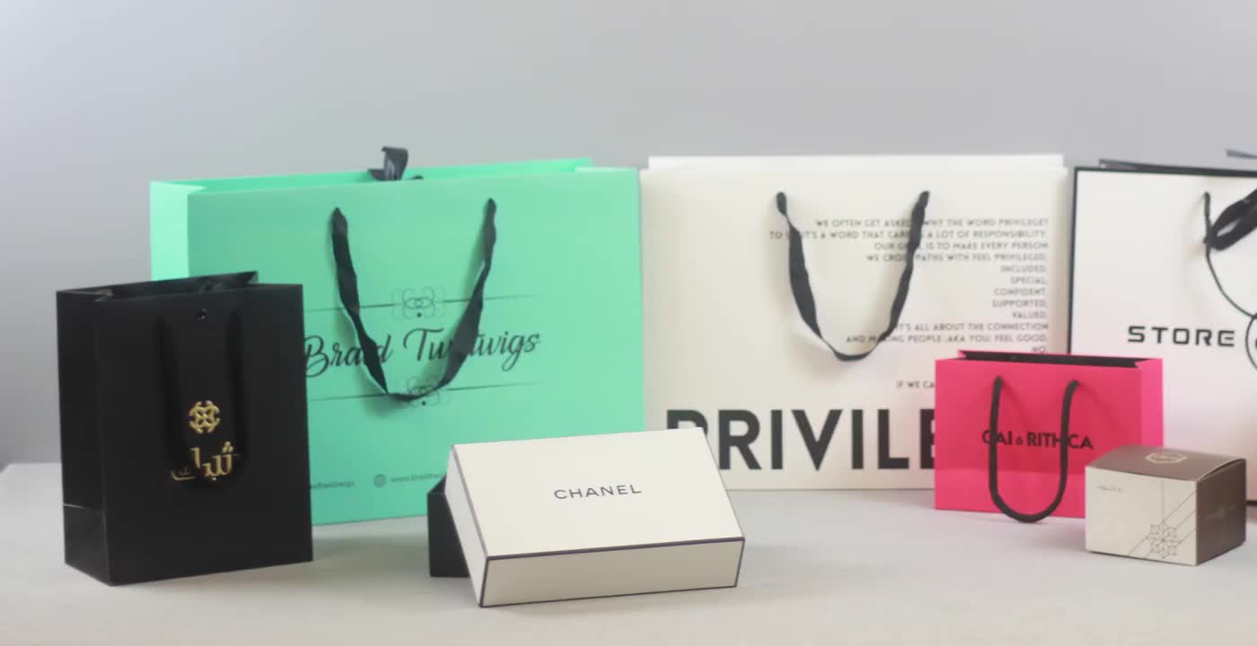Free samples luxury brand retail shopping carry packaging custom logo black boutique gift bags paper