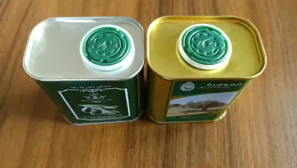 28mm Plastic flip top cap for olive oil tin can