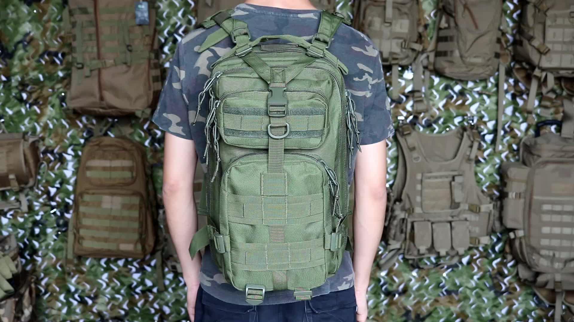 กันน้ำทหารกระเป๋าเป้สะพายหลังยุทธวิธี Camo กีฬากลางแจ้ง Daypack กระเป๋าเดินทางกระเป๋าเดินทาง Molle 3 P กระเป๋าเป้สะพายหลัง