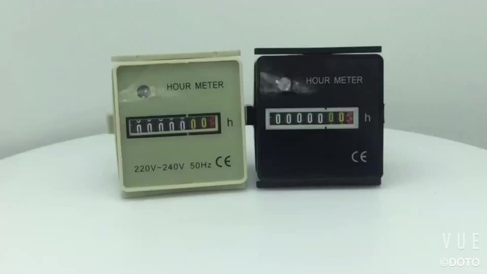HM-2 Hour Meter Timer 12v small Mechanical electronic Timers 48mm*48mm