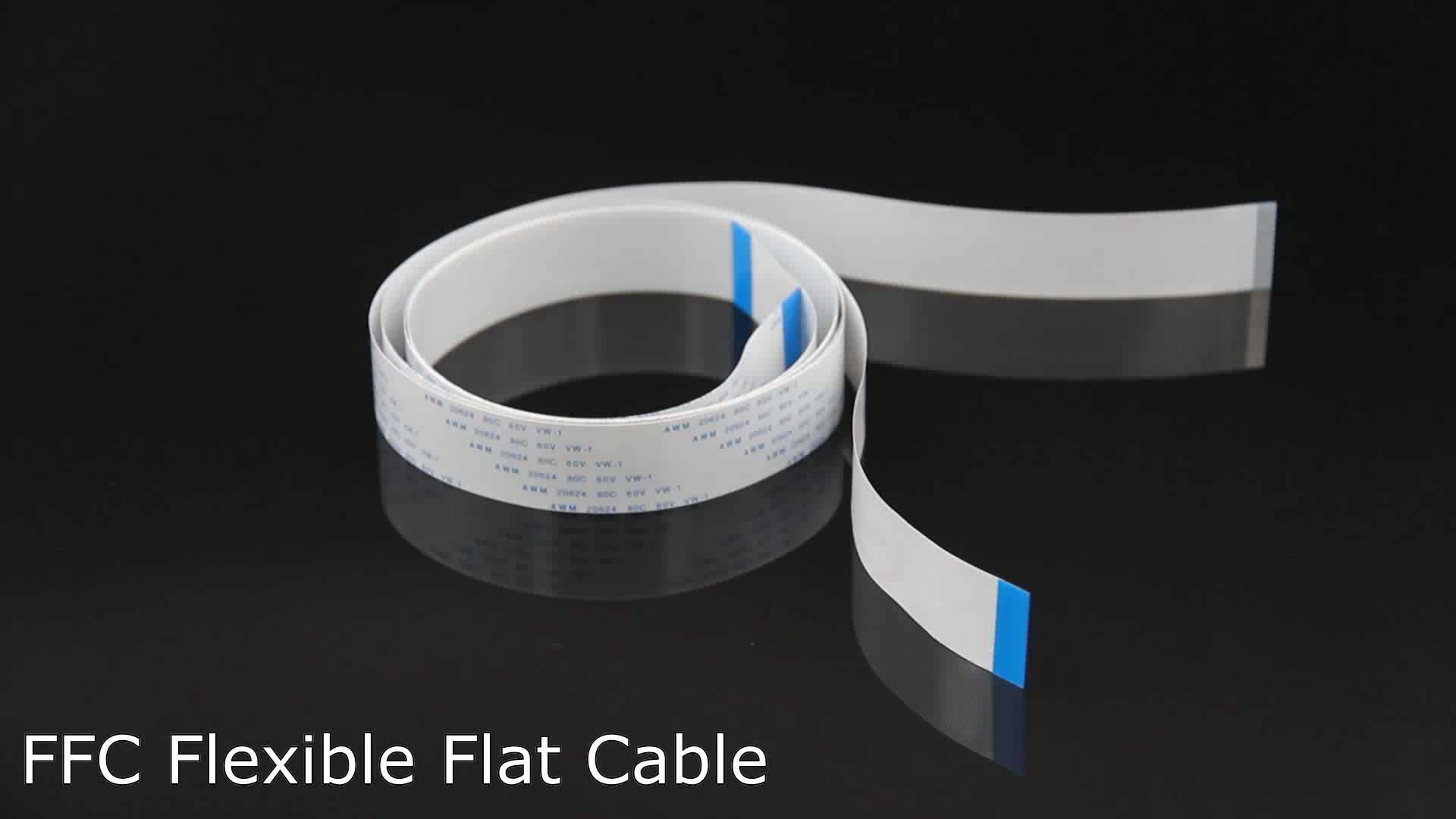 1000mm AWM 20624 80C 60V VW-1 40 Pin 0.5mm pitch FFC Flexible Flat Cable for PCB