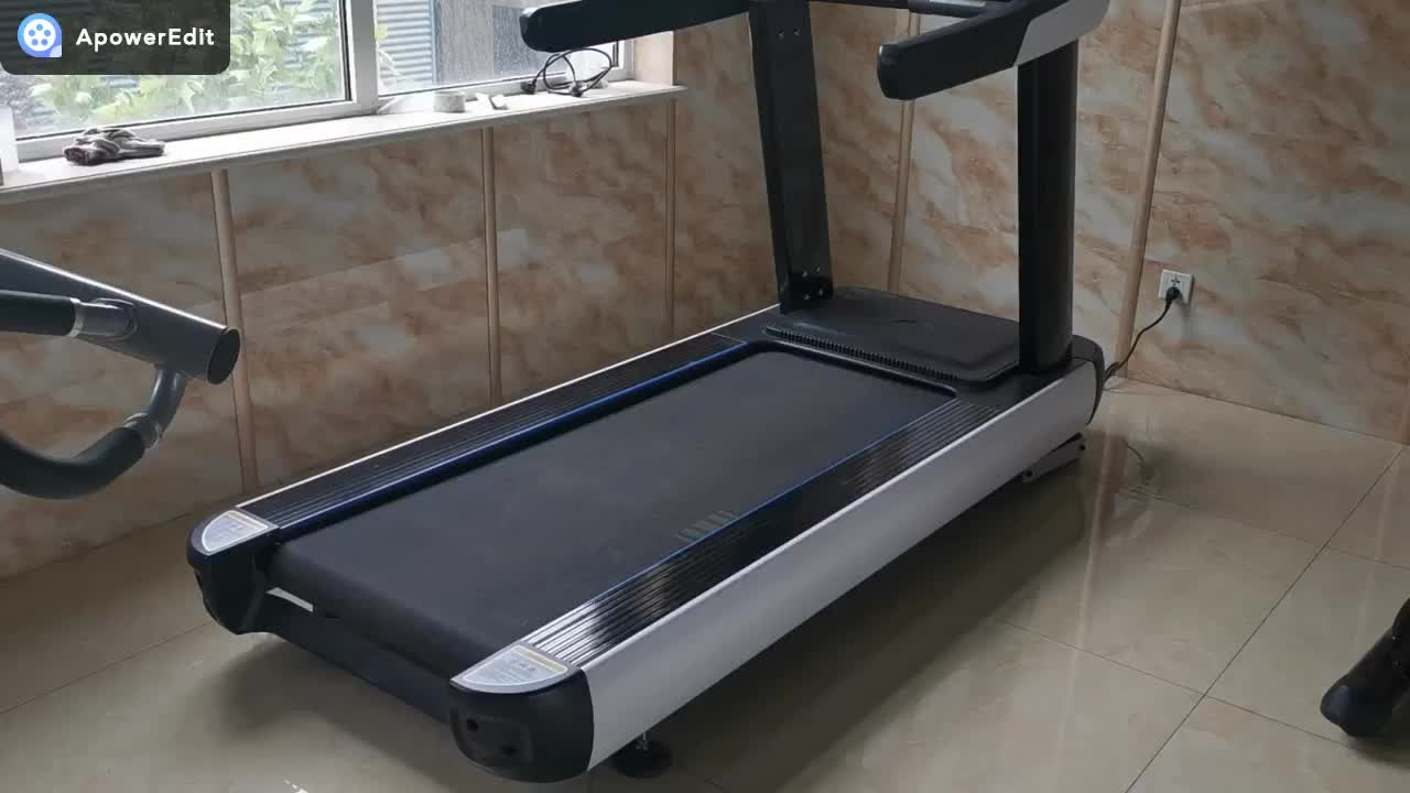 Heart rate monitoring electric running fitness jogging walking fitness equipment room commercial treadmill LED screen high speed