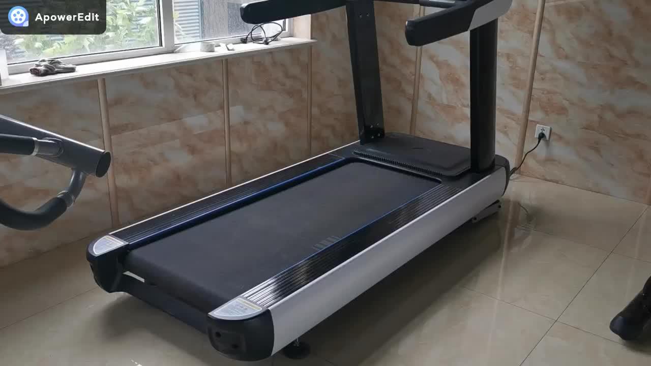 Monitoramento da freqüência cardíaca de corrida elétrico sala de equipamentos de fitness jogging andando fitness treadmill comercial LEVOU tela de alta velocidade