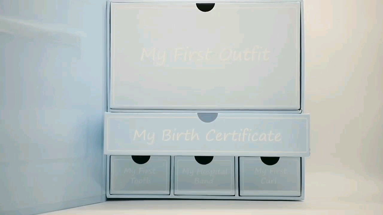 Cardboard Drawer Special Memory baby keepsake box