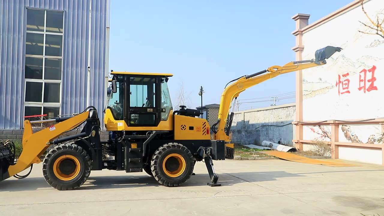 Nuevo retroexcavadora cargadora de ruedas 4x4 Tractor compacto con cargador y retroexcavadora precio