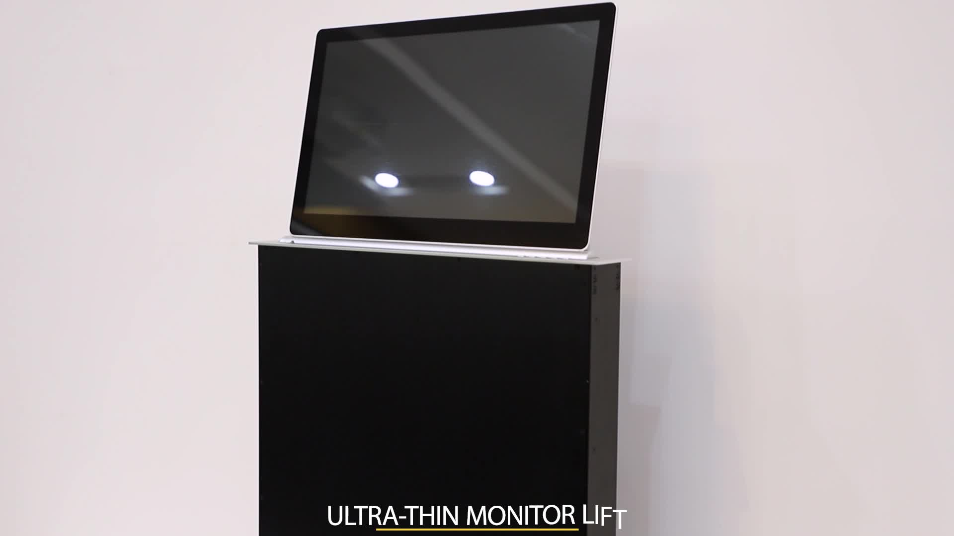 motorized screen lcd video conference electric pop up tv lifts