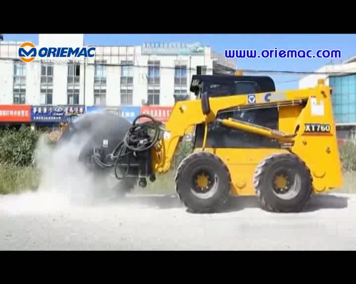 XCMG XC760K Mini Skid Steer Loader with Snow Blower