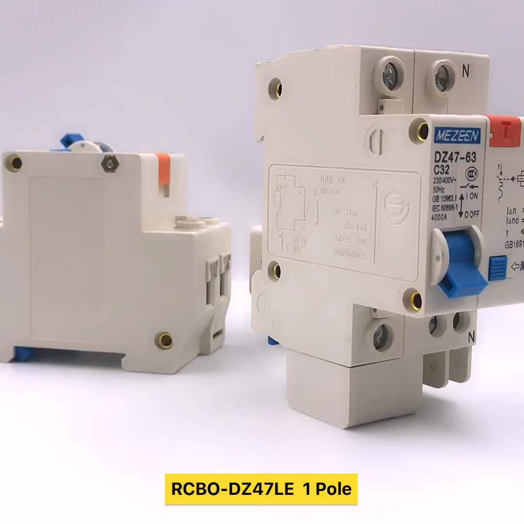 DZ47LE 1 P + N aardlekschakelaar 16a 30ma elektrische toepassing van elcb rating