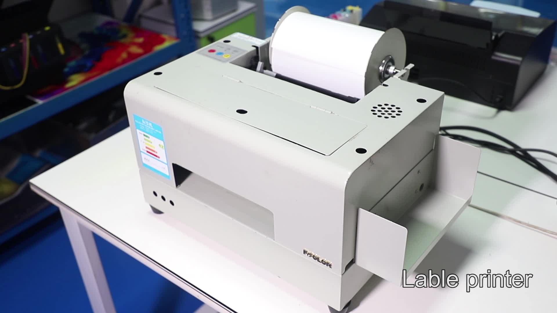 New Arrival A4 Industrial Roll To Roll Digital Inkjet Color Label Printer