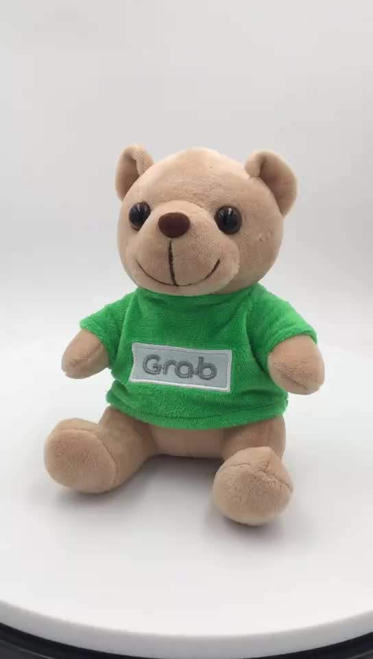 Custom Small Teddy Bears Plush toy with Different Colors T-shirt
