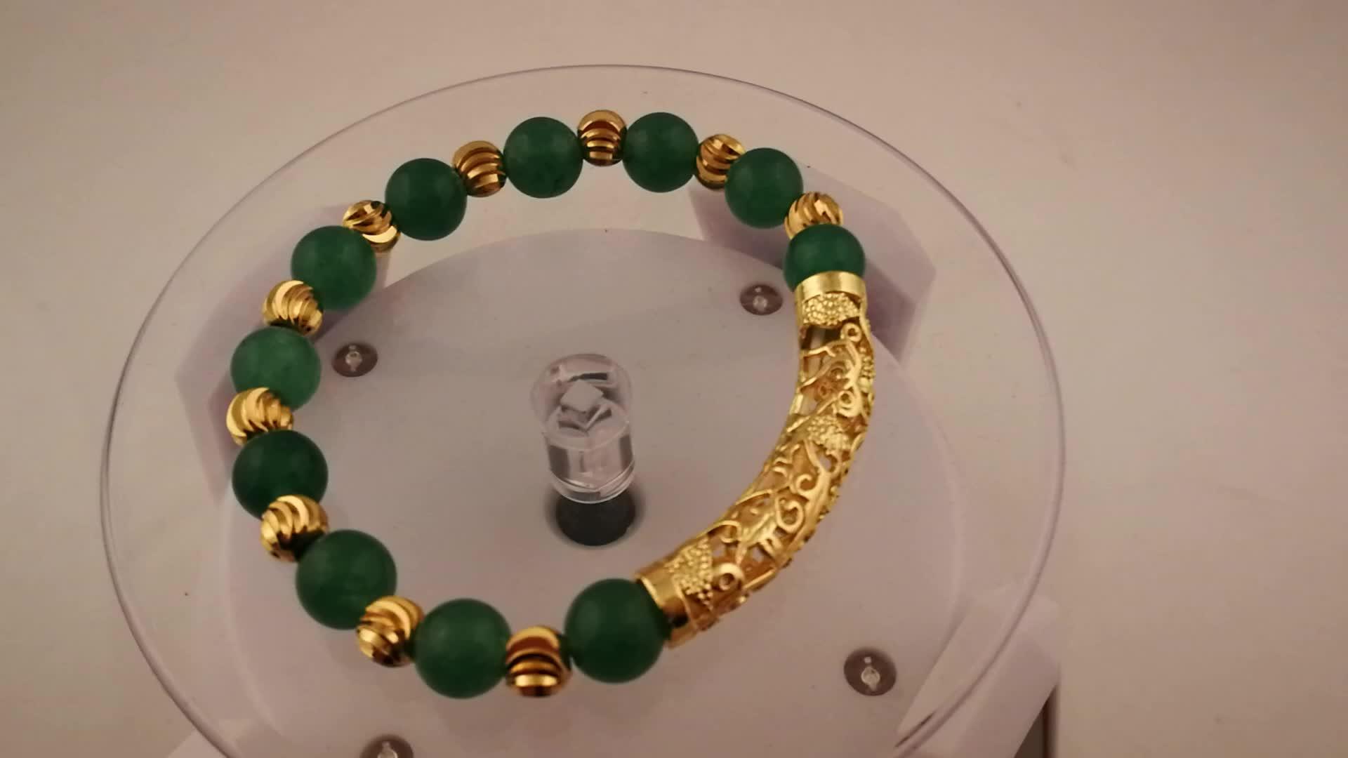 BDB01 European and American Hot Selling Natural Powder Crystal Calm Emotions Power Bead Bracelet