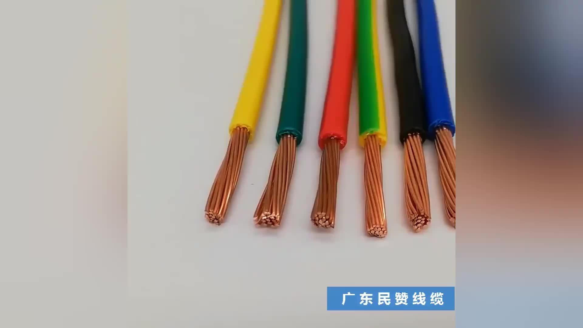 OEM cable eléctrico cable de alambre de 1,5mm 2,5mm 4mm 6mm 10mm bulbo/foco de cobre