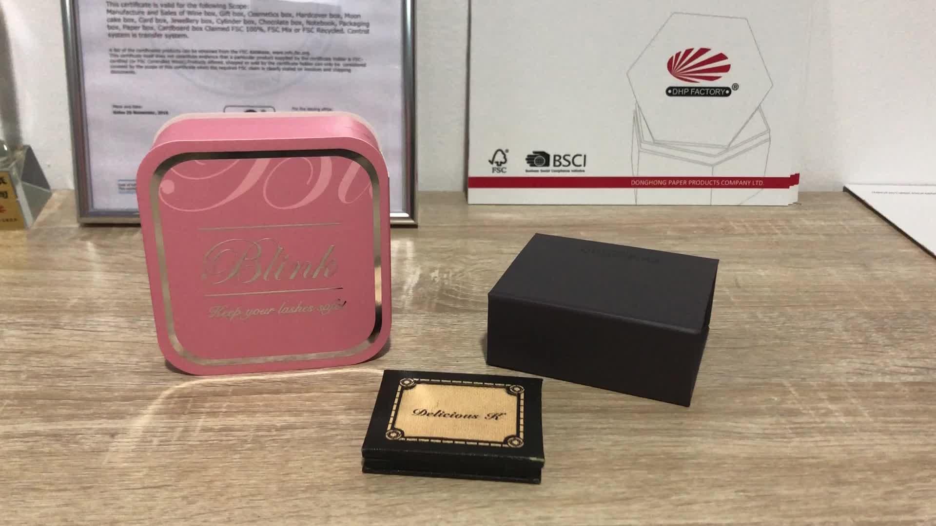 Di lusso Vuoto Private Label Individuale Falso Ciglia di Carta Carta di Imballaggio Logo Personalizzato Scatola Regalo Magnetica