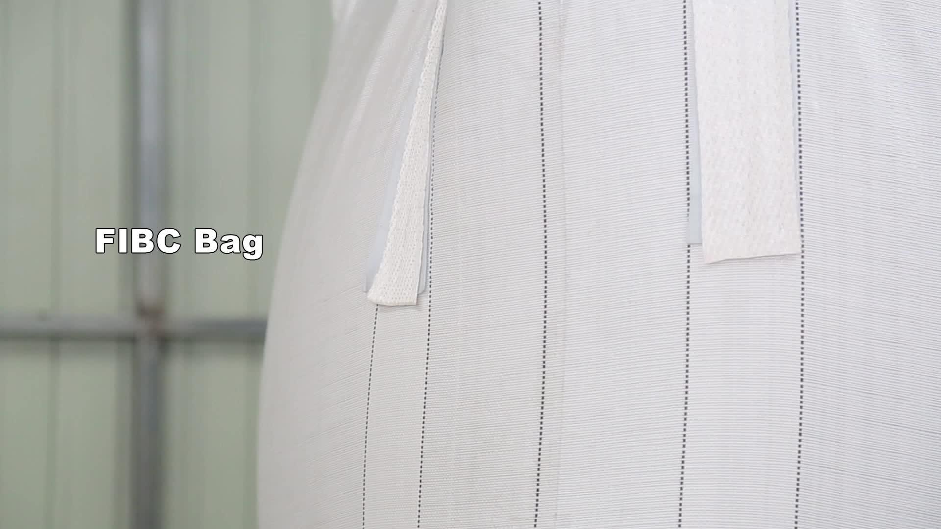 पीपी थोक बैग पैकिंग के लिए कैल्शियम कार्बोनेट और चूना, सुरक्षा का पहलू 5:1, का उपयोग रीसाइक्लिंग, धूल के सबूत