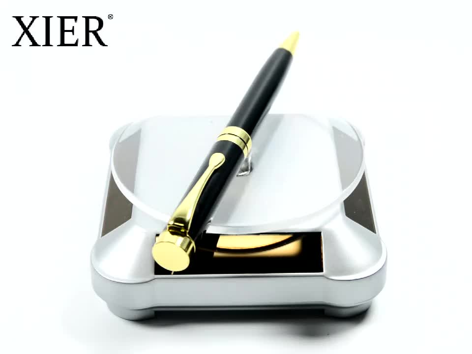 2020 latest promotion gift ball pen luxury heavy metal ballpoint pen with gold clip for office school