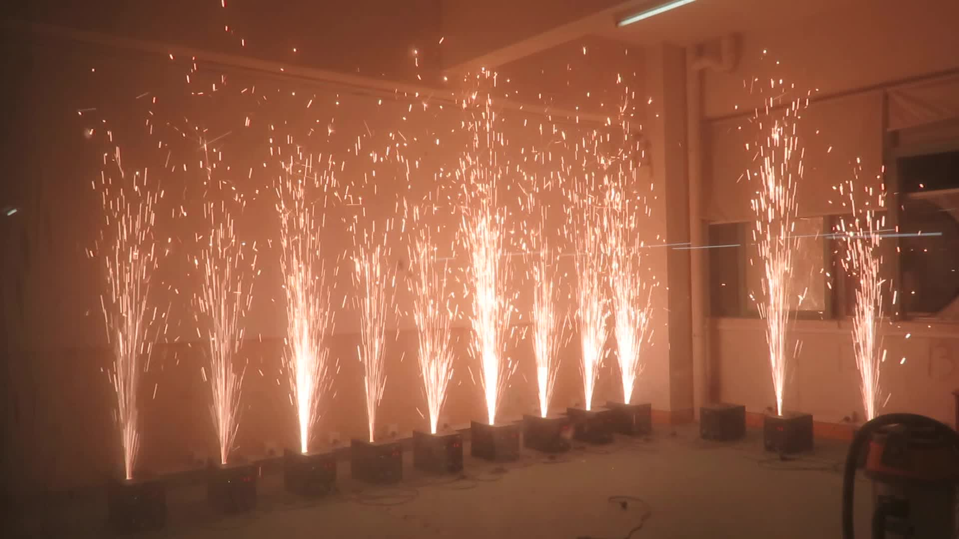 indoor dmx cold pyro cold fountain fireworks machine for wedding