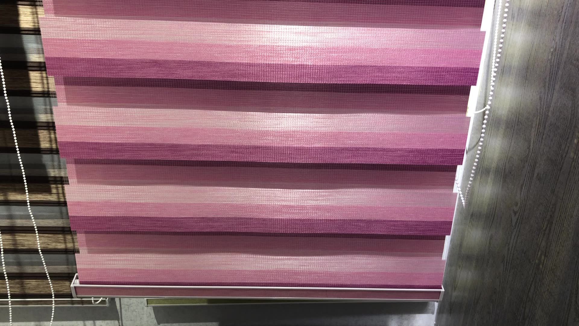 Custom Made Window Curtain Wholesale Office And Home Light Control Fabric Zebra Roller Blinds Blackout