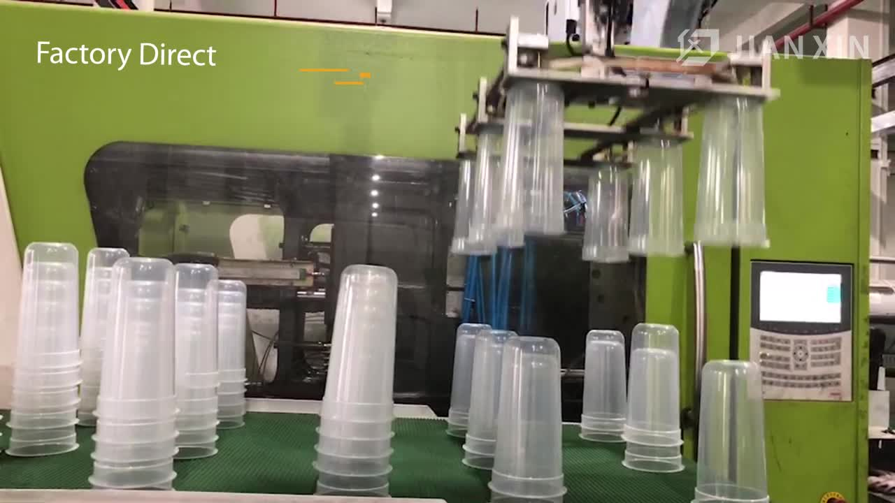 Food grade Custom Printed 8/16/32 oz Clear Disposable plastic bubble tea pp injection cup With Lid