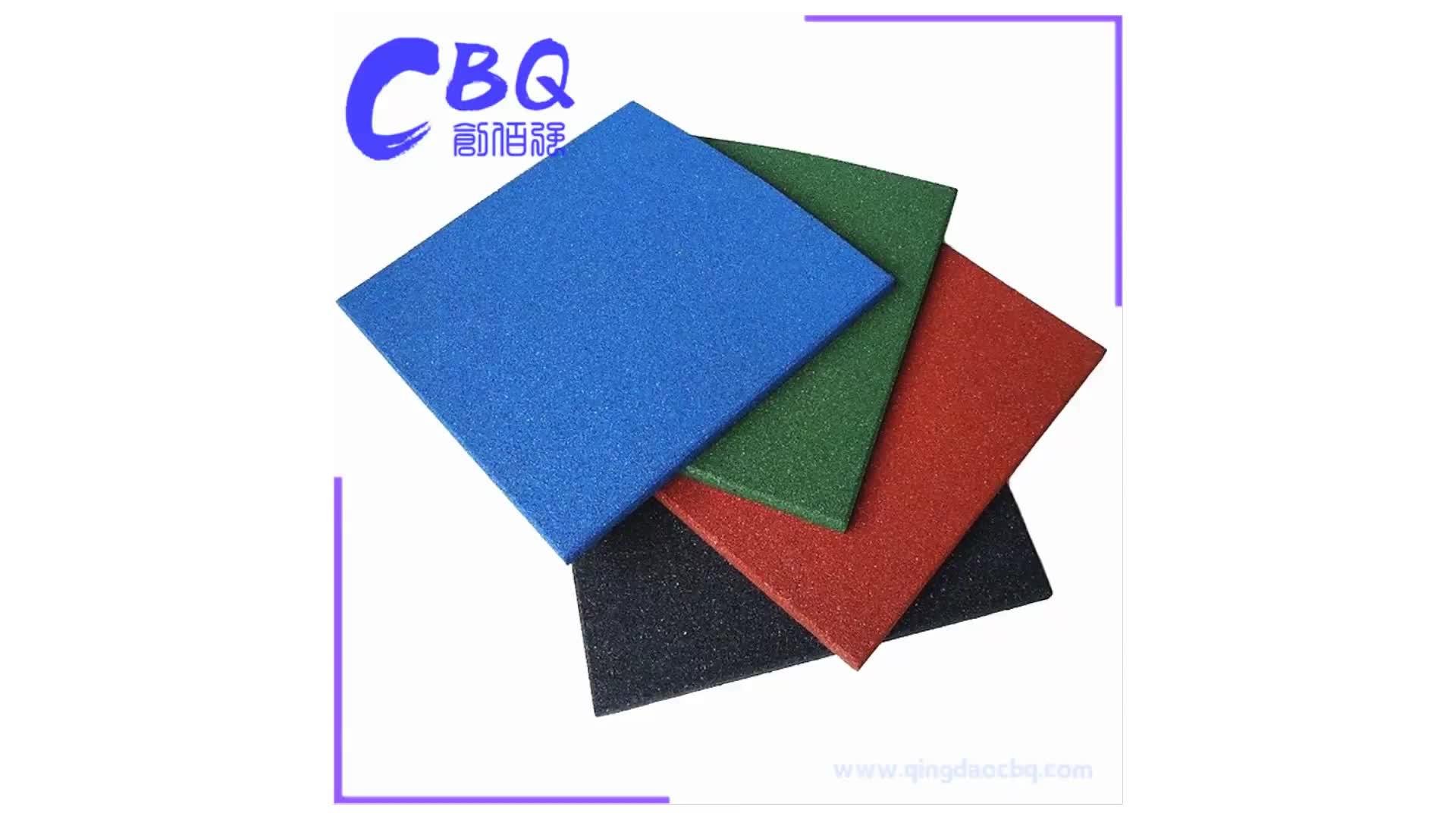 EN1177 fall height safety rubber mat, colorful EPDM rubber flooring tiles, durable anti-UV floor mats