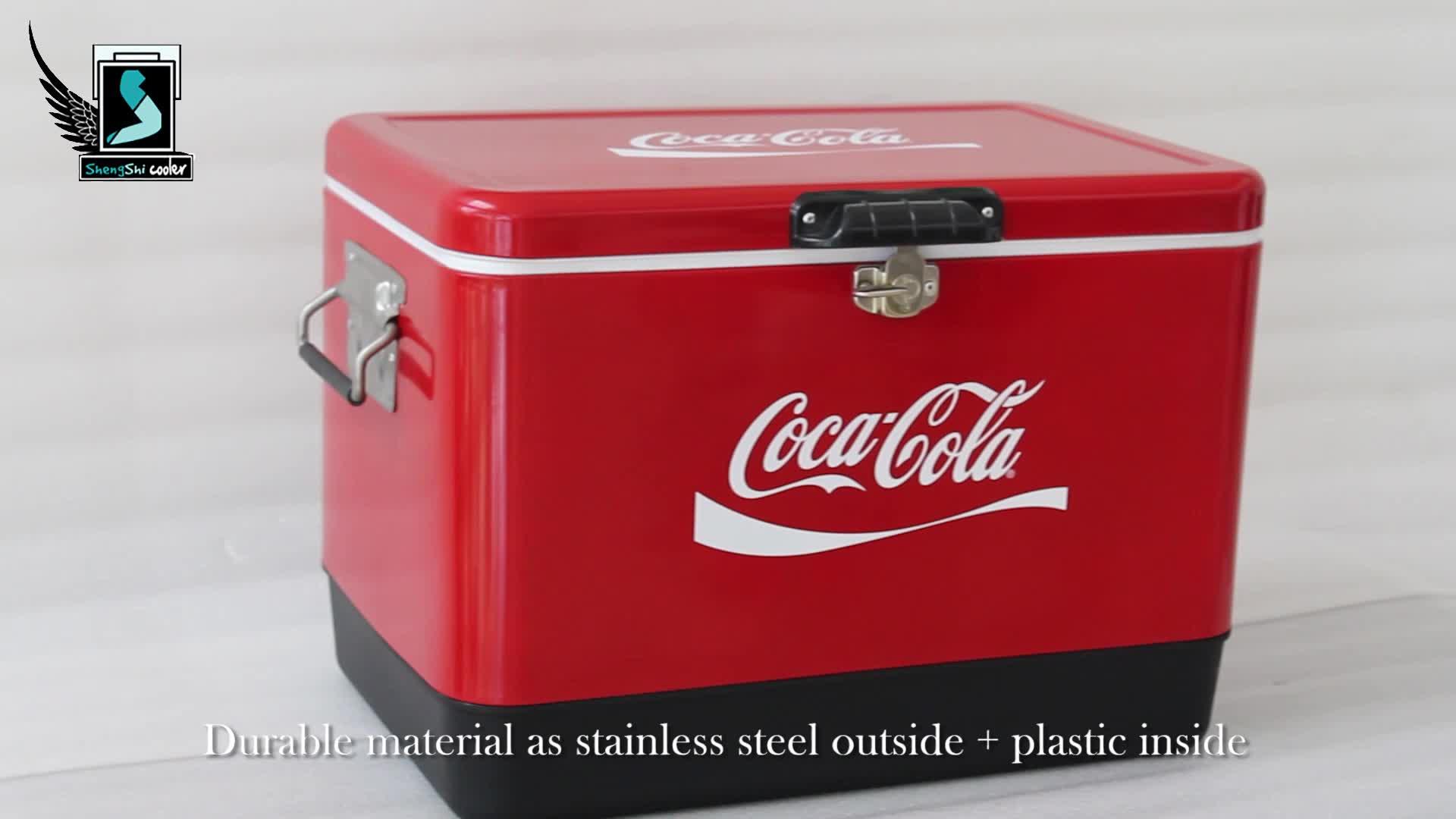 50L High End Металл Нержавеющая сталь портативный охладитель пива коробка