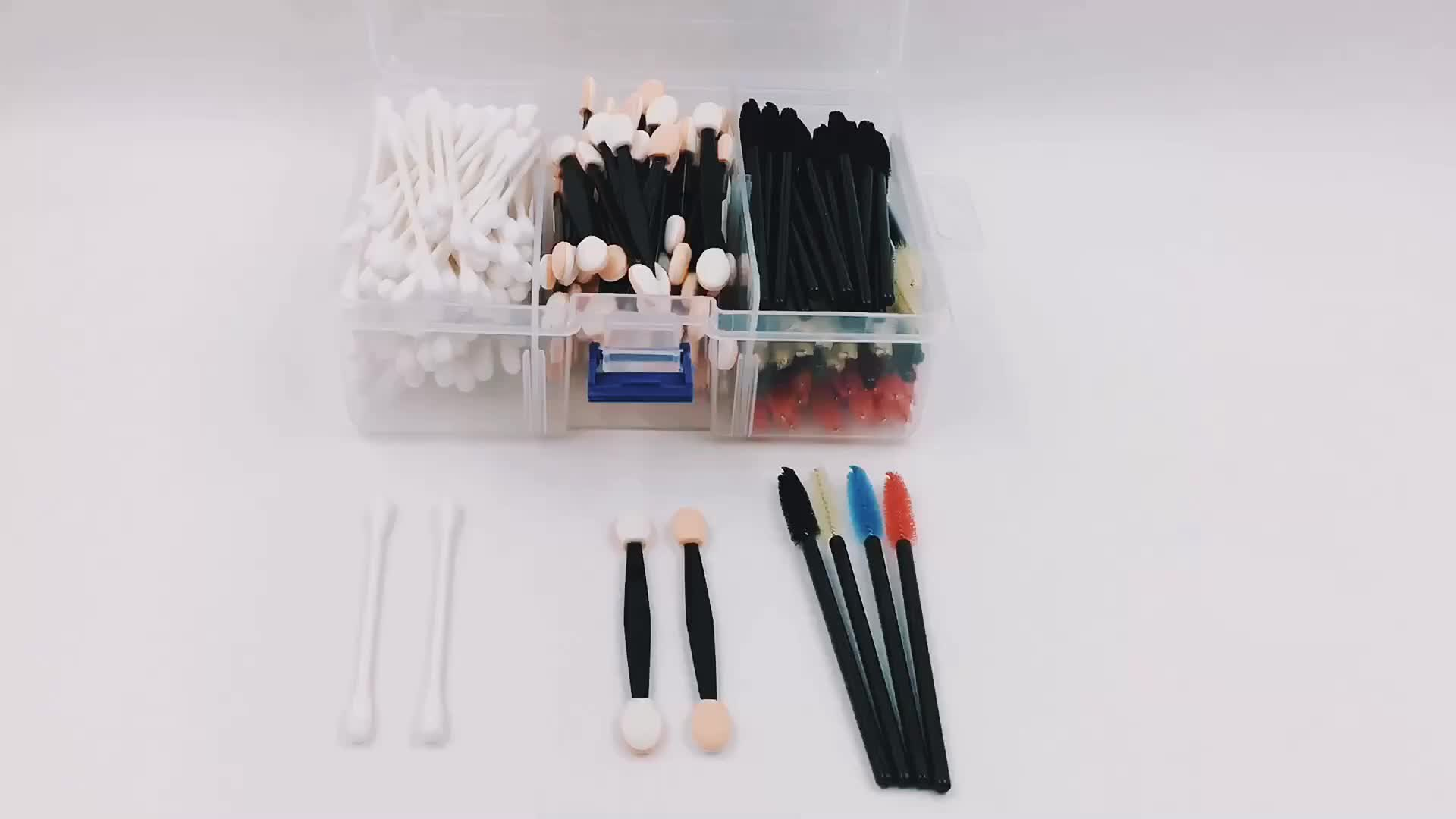 220pcs EYESHADOW APPLICATORS MASCARA WANDS COTTON SWABS Filled Makeup Container