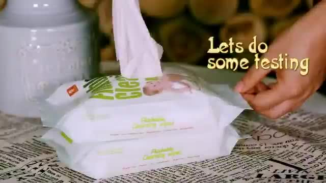 Organic flushable biodegradable wipes for baby
