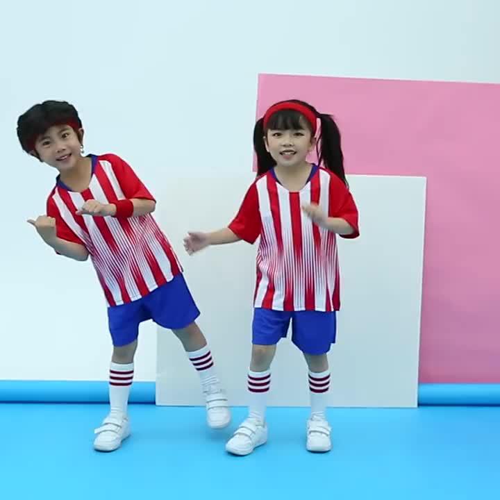 도매 어린이 축구 유니폼 키트 어린이 저렴한 축구 팀 유니폼 축구 스포츠 훈련 유니폼