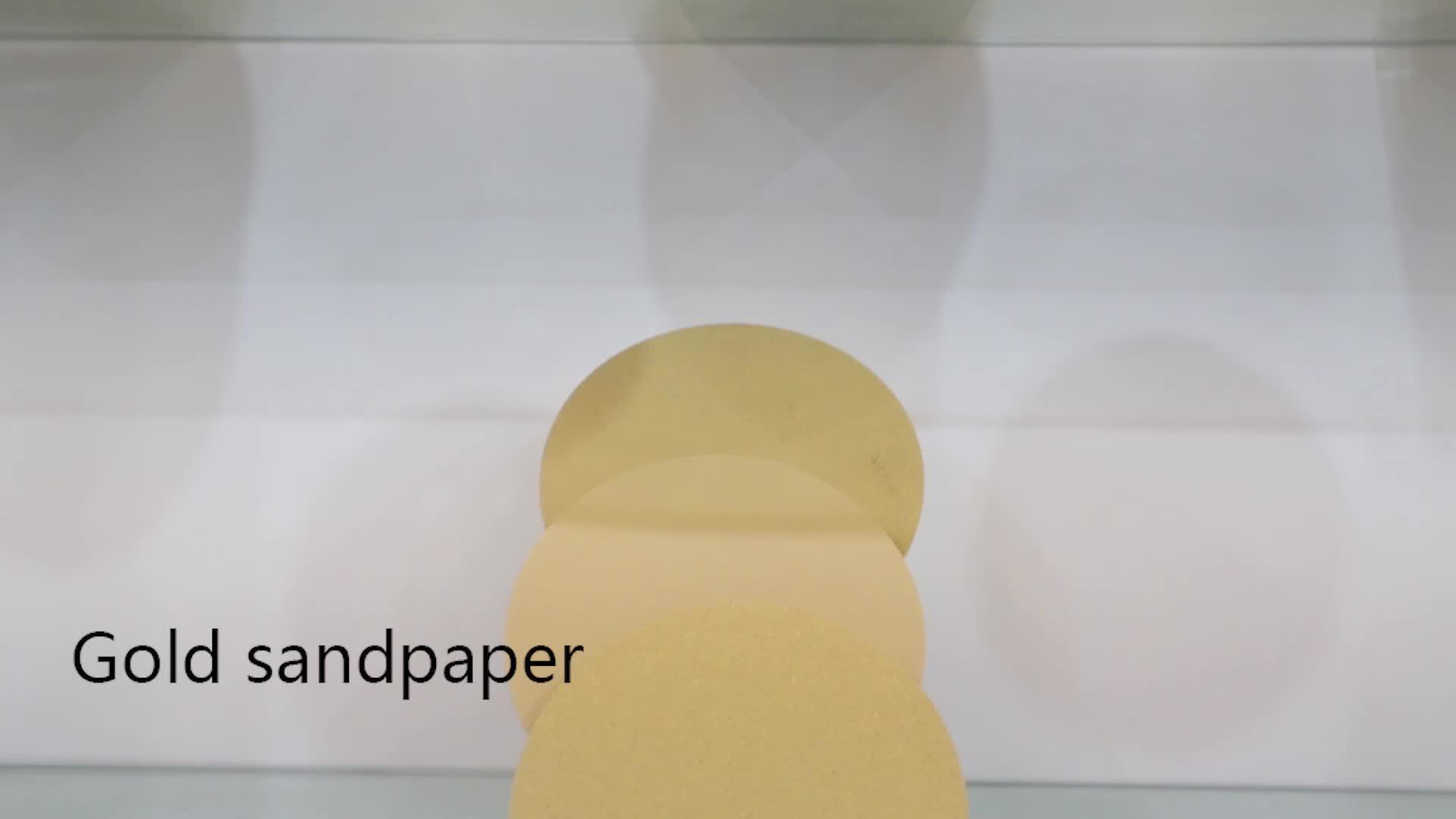 6 इंच 17 छेद 100 धैर्य हुक और पाश sandpaper, सोना, 100 पैक