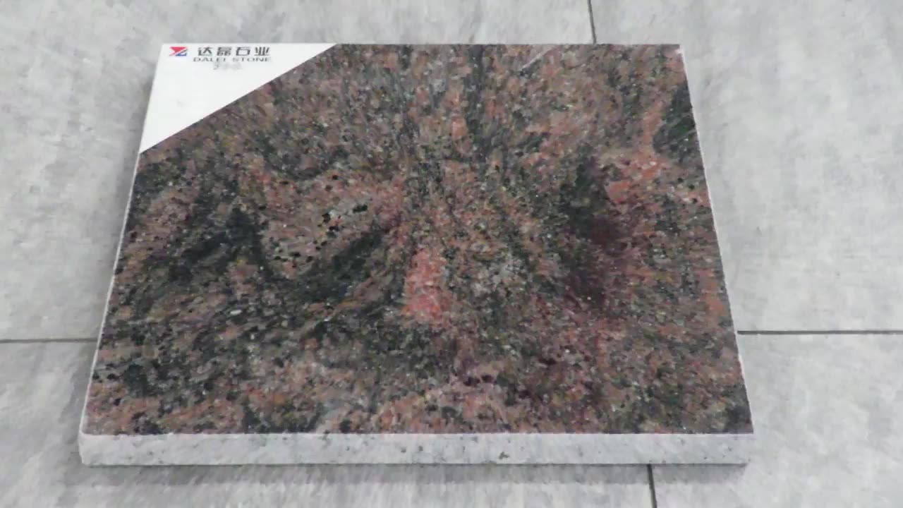 Poland Style Aurora Red Indian Granite Monuments