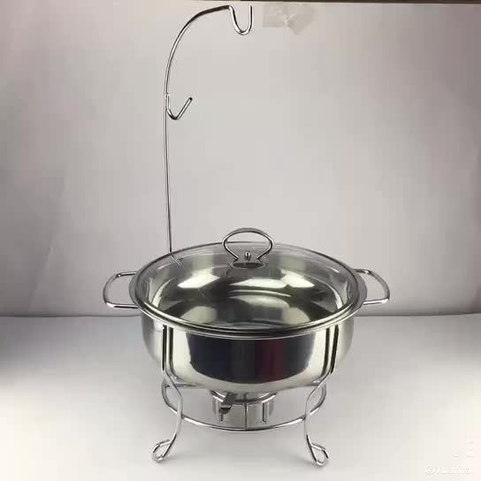 Factory wholesale stainless steel buffet chafing dish can spray gold Dubai hot chafing dish with pot rack