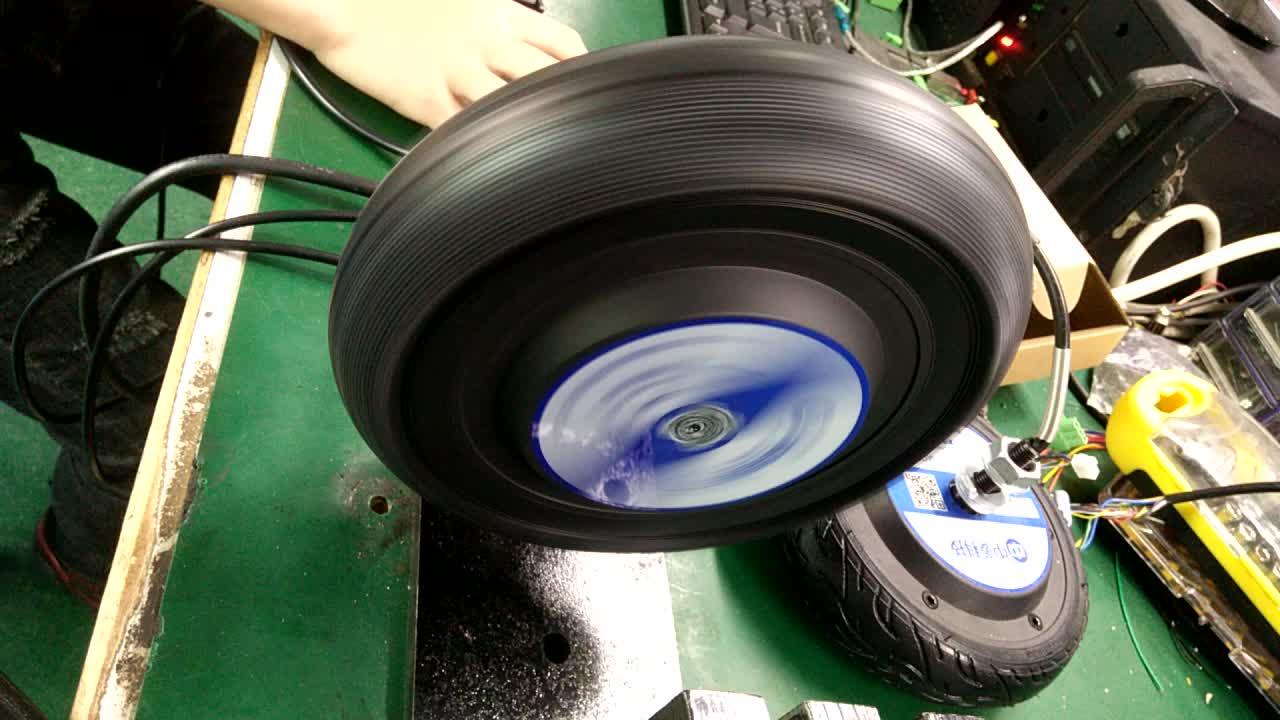 저속 6.5 인치 36V 48V 5N. m 100kg 부하 350W 600RPM BLDC 서보 브러시리스 휠 허브 모터 AGV